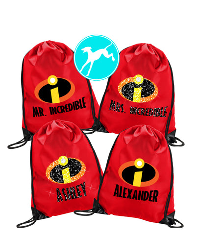 Disney Pixar Incredibles red bag
