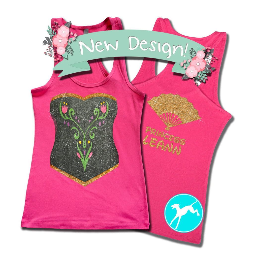 Disney Anna Costume Personalized Tank