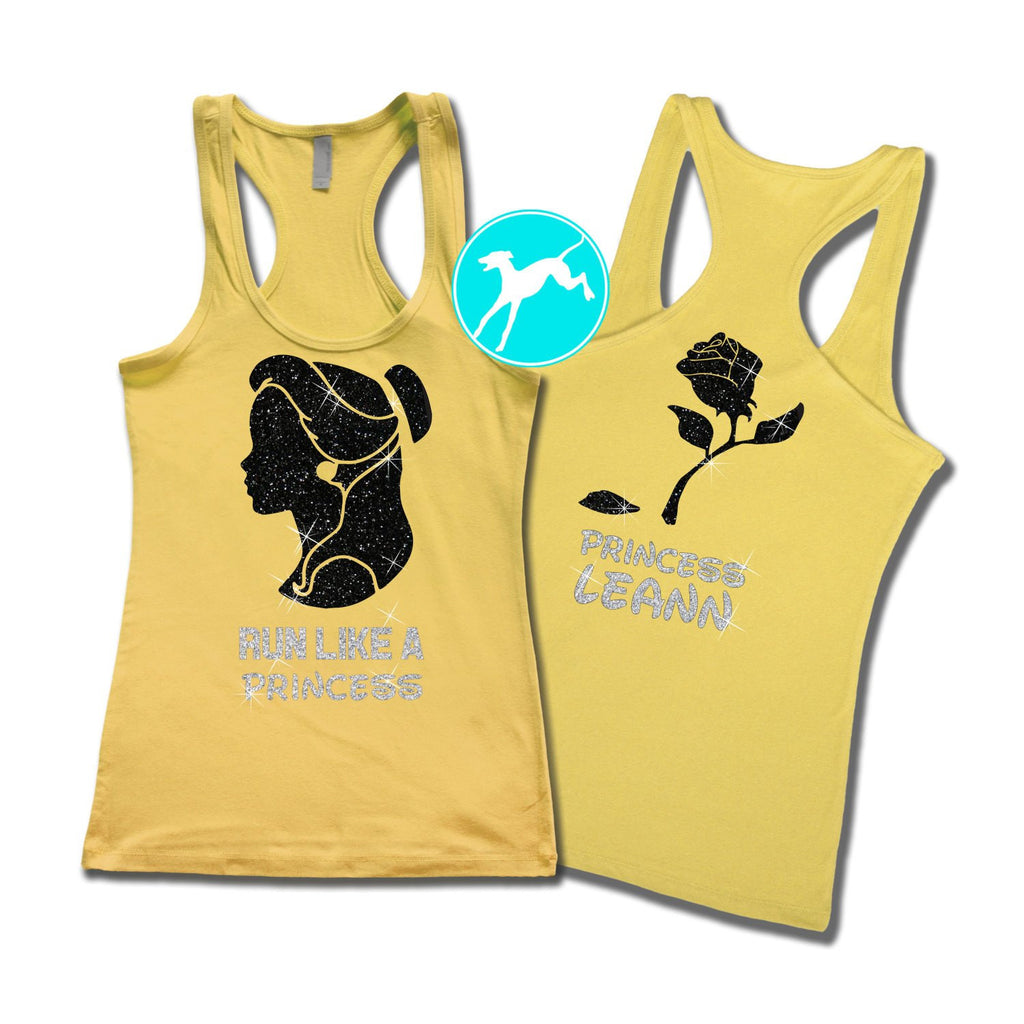 Disney Run like a Princess Belle Tank