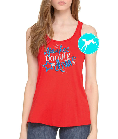 Yankee Doodle Diva Red Tank