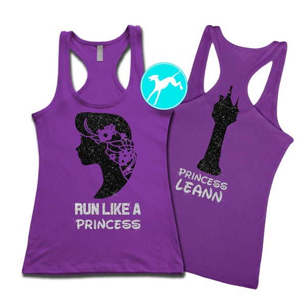Disney Tankgled Run like a Princess Personalized Tank