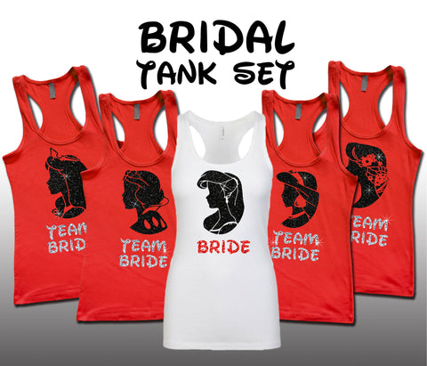 Princess Bridal Set Red