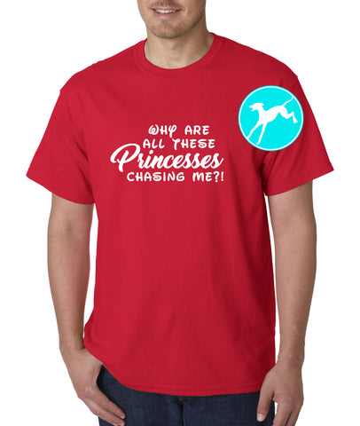 Princesses chasing me Red T-Shirt
