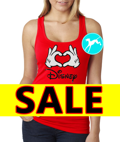 Disney SALE Glitter Tank Shirt