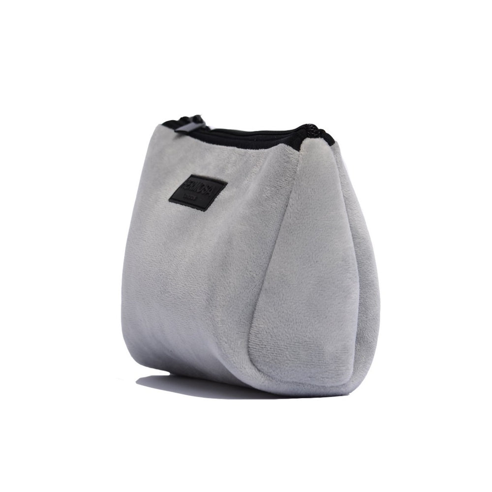 Load image into Gallery viewer, Soft Grey Velvet Wash Bag