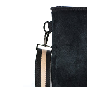 Load image into Gallery viewer, Black Velvet Midi Bag