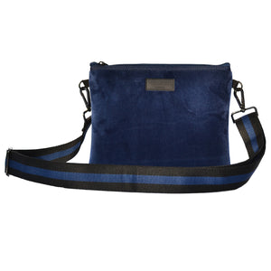 Load image into Gallery viewer, Personalise | Blue Velvet Messenger Bag