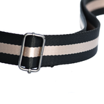 Black and Oyster Crossbody Strap
