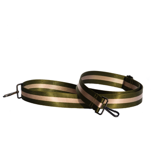 Khaki and Oyster crossbody strap