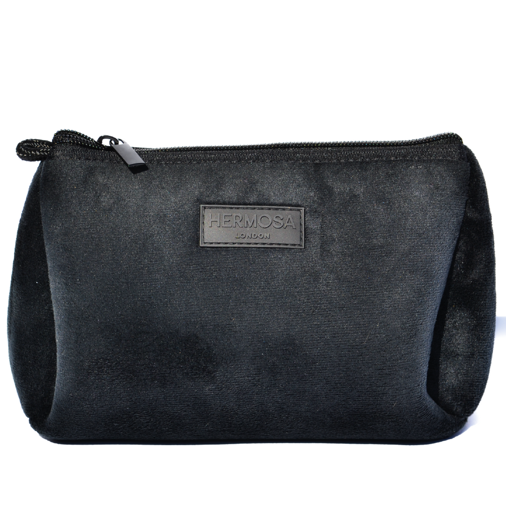 PERSONALISE | Black Velvet Make Up Bag