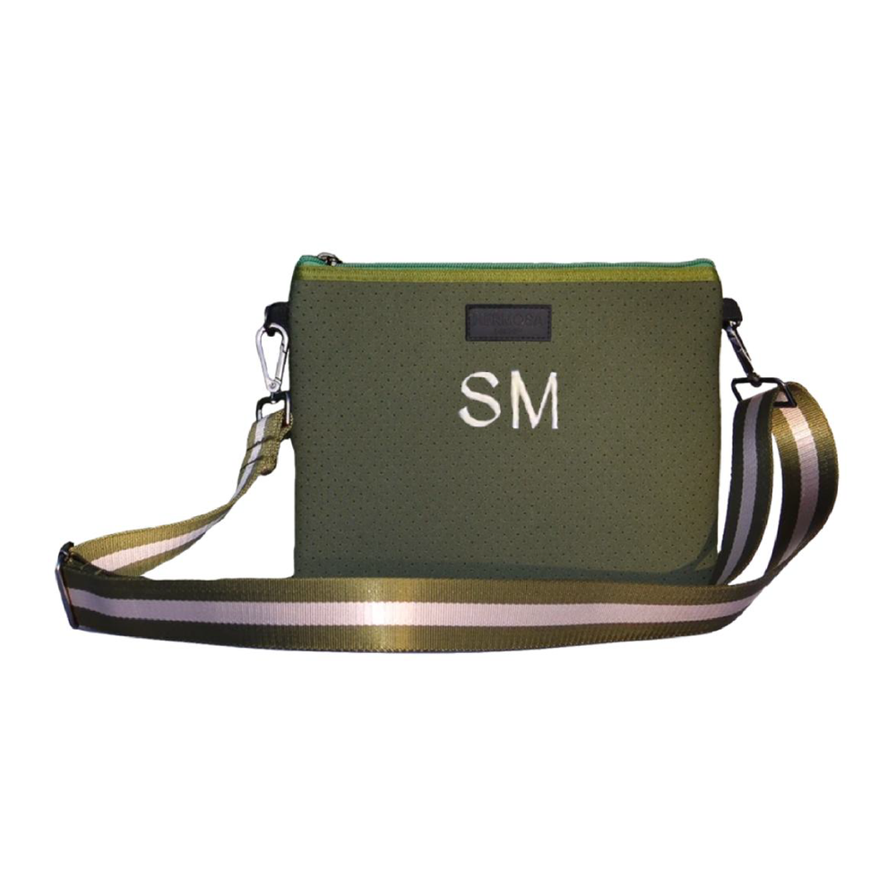 Load image into Gallery viewer, Personalise | Khaki Messenger Bag