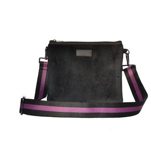 Black Velvet Messenger Bag
