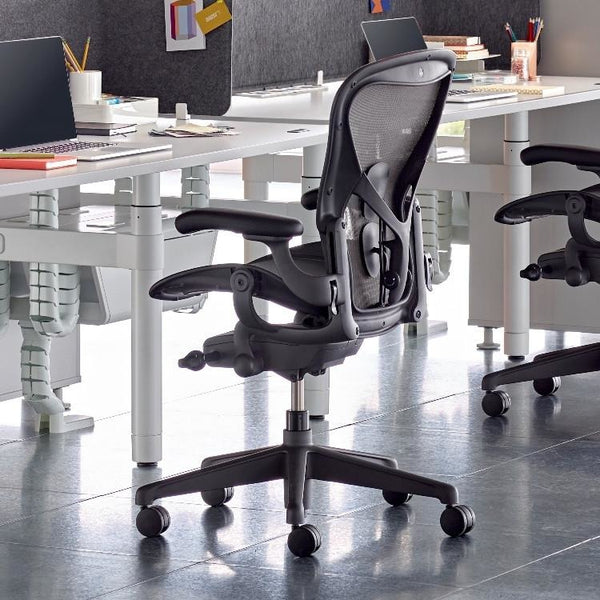 New Aeron Chair Remastered by Herman Miller - Graphite - TSI Workspace