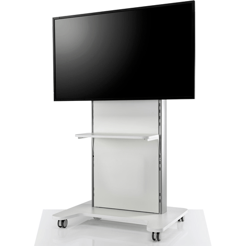 AV/VC One Single Screen Standard Configuration with Shelf - TSI Workspace