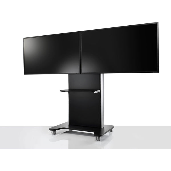 Colebrook Bosson Saunders AV/VC One Dual Screen Standard Configuration with Shelf - TSI Workspace