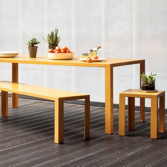 Jennifer Newman Angle Table, 2 Benches and 2 Stools - TSI Workspace