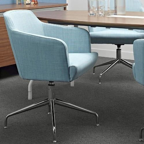 Jetty Meeting Armchair with Chrome Swivel Base - TSI Workspace