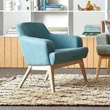 Jetty Compact Armchair with Light Walnut Base - TSI Workspace