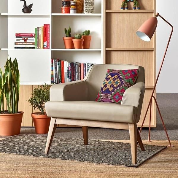 Jetty Armchair with Light Walnut Base - TSI Workspace