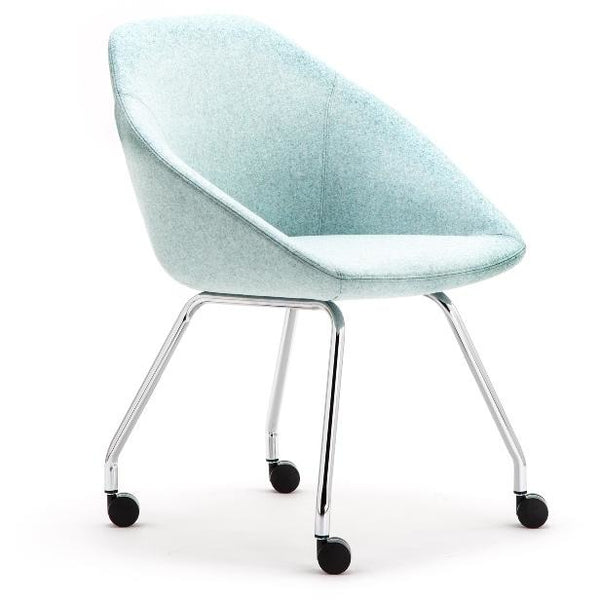 Famiglia Tub Chair with 4 Leg Frame on Castors - TSI Workspace