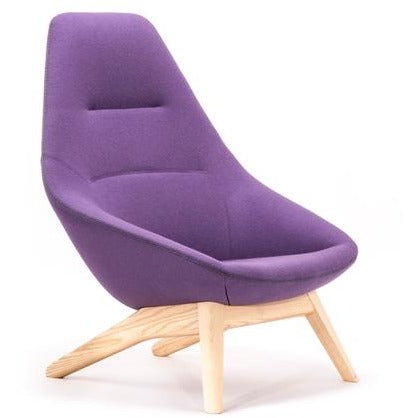Famiglia Lounge Chair with Wood Frame - TSI Workspace