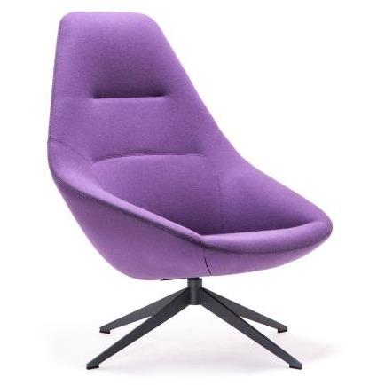 Famiglia Lounge Chair with 4 Star Swivel Base - TSI Workspace