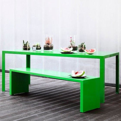 Jennifer Newman Groove Table and Bench - TSI Workspace