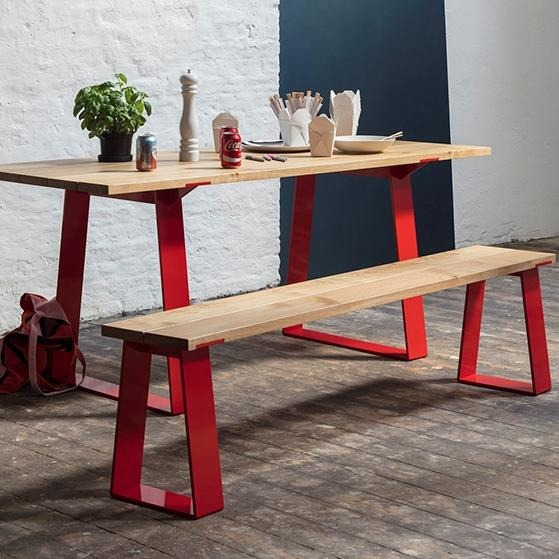 Jennifer Newman Edge Table and Bench - TSI Workspace