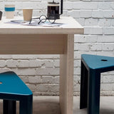Jennifer Newman Triangle Table and 3 Stools - TSI Workspace