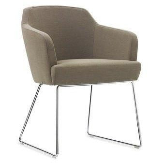 Jetty Compact Armchair with Chrome Wire Base - TSI Workspace