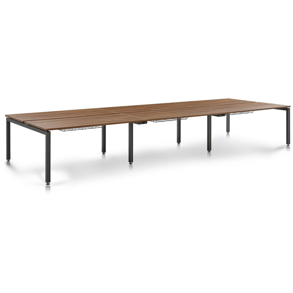 Herman Miller Sense 6 Person Back to Back Bench Desks (1400 x 800) - TSI Workspace
