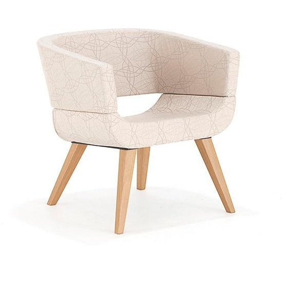 Lola Chair with 4 Leg Wooden Base - TSI Workspace