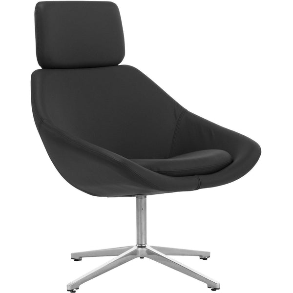 Open Chair with Headrest and 4 Star Base - TSI Workspace