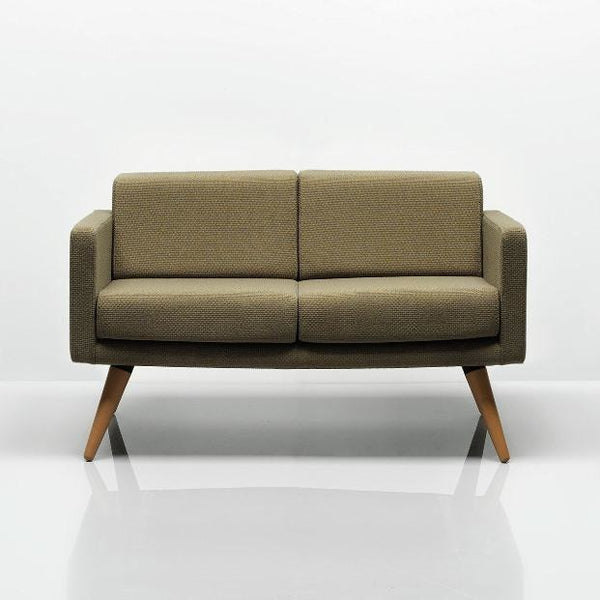Fifty Series 2 Seat Sofa with Wooden Legs - TSI Workspace