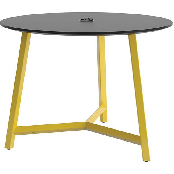 Relic 3 Leg Round Table with Power 900mm - TSI Workspace