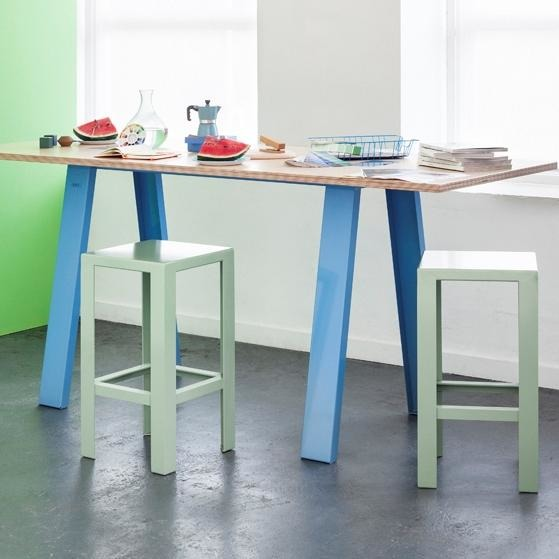 Jennifer Newman Tall Trestle Table - TSI Workspace