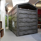 Huddle Rustic Shed with High Back Seating - TSI Workspace