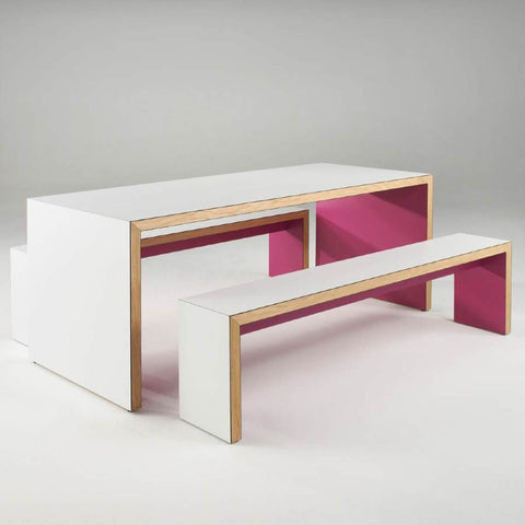 Waldo/45 Table and 2 Benches - TSI Workspace