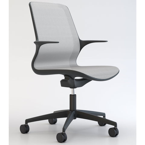 Tempo Chair in Black with White Mesh - TSI Workspace