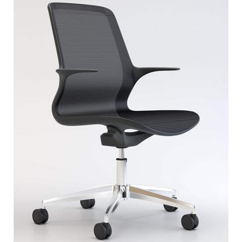 Tempo Chair in Black with Polished Base - TSI Workspace