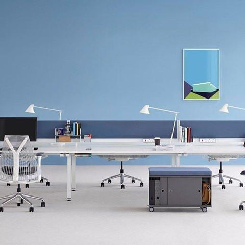 Herman Miller Sense Single Side 3 Person Bench Desk (1400 x 800) - TSI Workspace