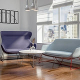 Ilk Two Seater Low Back Sofa with Sled Base - TSI Workspace