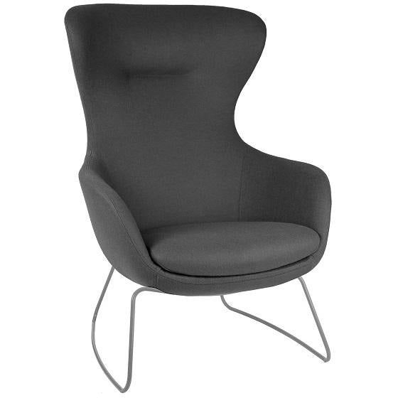ILK Lounge Chair with Sled Base - TSI Workspace