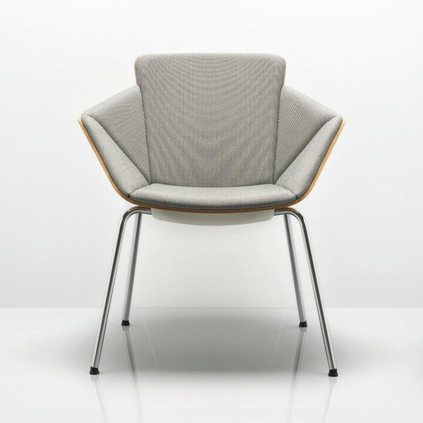 Phoulds Wood Shell Medium Back Chair with 4 Leg Frame - TSI Workspace