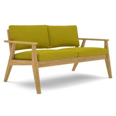 Scandi Sofa with a Natural Oak Frame - TSI Workspace
