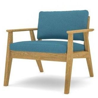 Scandi Chair with a Natural Oak Frame - TSI Workspace