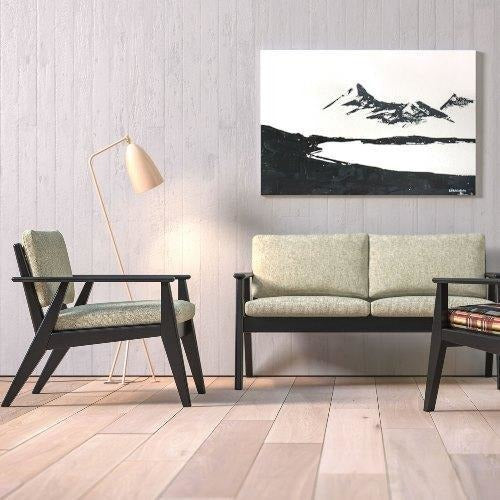 Scandi Sofa with a Black Oak Frame - TSI Workspace