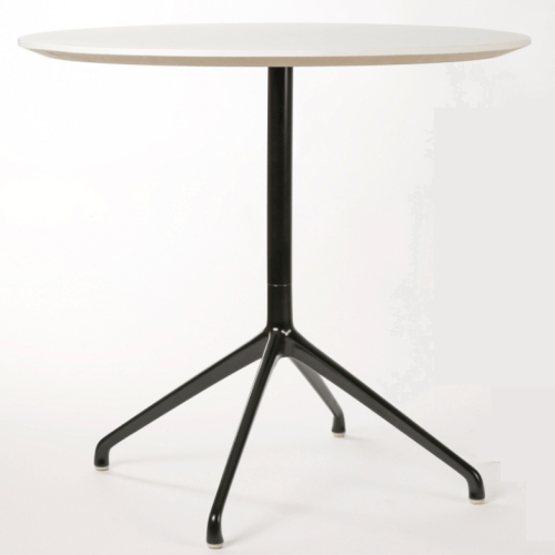 Era Round Table 600 Diameter Black Frame - TSI Workspace