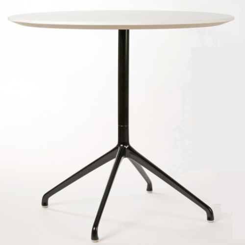 Era Round Table 800 Diameter Black Frame - TSI Workspace