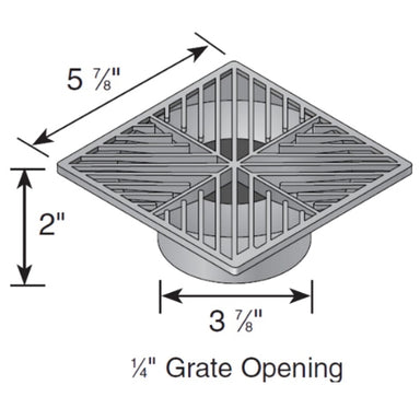 NDS - 04 - 6 in. Sq Grate-Black